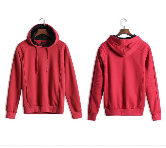 e6627dddb9dbab China Kangaroo Pocket Customized Wholesale Plain Black Hoodie ...