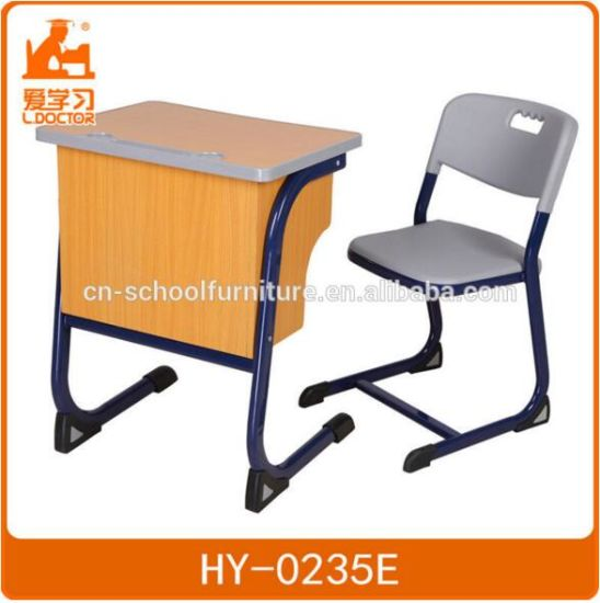 Middle School Student Single Desk with Chairs