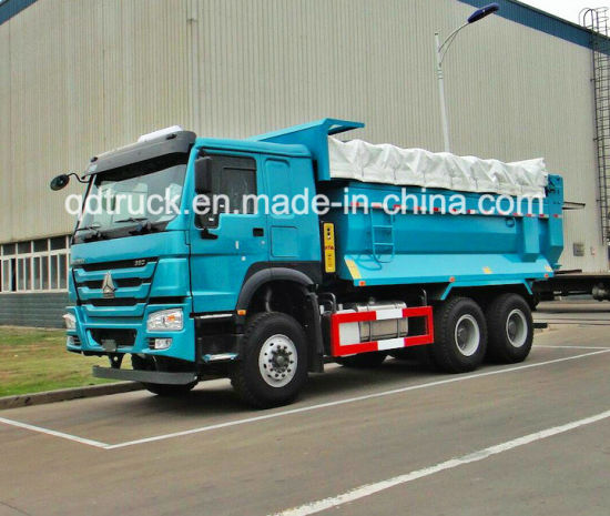 6X4 LHD Diesel Engine Zz3257 Dump Truck pictures & photos
