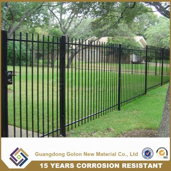 Black Square Tube Wrought Iron Metal Fence pictures & photos