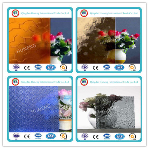 3mm-6.5mm Blue Pattern /Figure Glass pictures & photos
