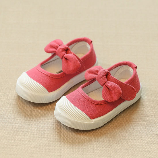 Baby Spring Summer Shoes Girls Fashion Bowknot Canvas Shoes Size 21-30