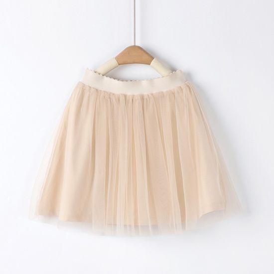 Sharenew Style Children's Skirt Girl's Princess Gauze Dress Lined Skirt for Summer