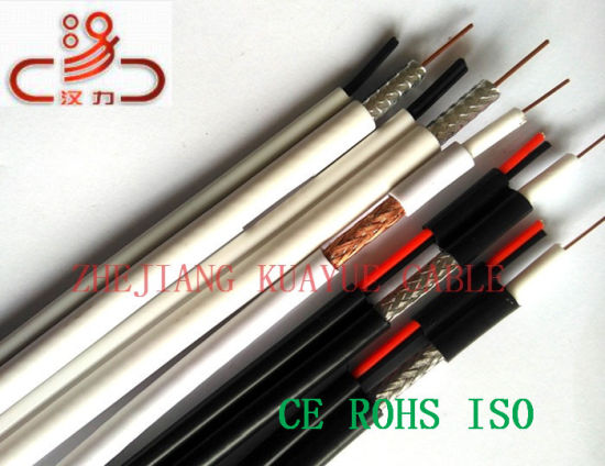 Combined Cable Rg59 Coaxial+Cat5e/Computer Cable/ Data Cable/ Communication Cable/ Connector/ Audio Cable