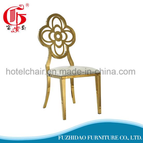 Golden Back Simple Design Dining Chair for Restaurant