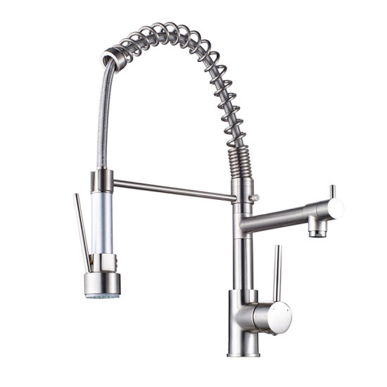 Flg Led Kitchen Faucet With Pull Down Vessel Sink Faucet Tap Mixer
