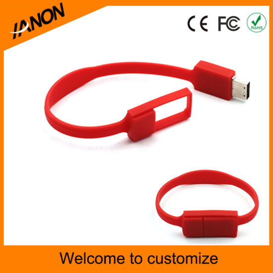Hot Selling Wristand USB Stick for Many Colors pictures & photos
