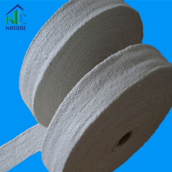 1260c Thermal Insulation Ceramic Fiber Tape, Ceramic Fibre Fabric Tape Reinforced with Fiberglass Filament or Stainless Steel Wire 2-6mm Thickness