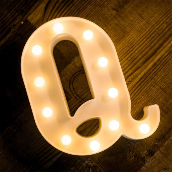China Price LED Alphabet Letter Q Light up Marquee Sign Night Light pictures & photos