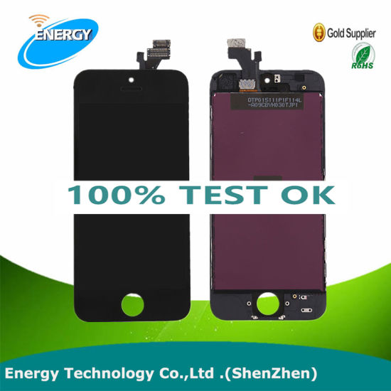 Hot Sale! ! ! China Supplier Mobile Phone LCD for iPhone 5, for iPhone 5 LCD Touch Screen Digitizer
