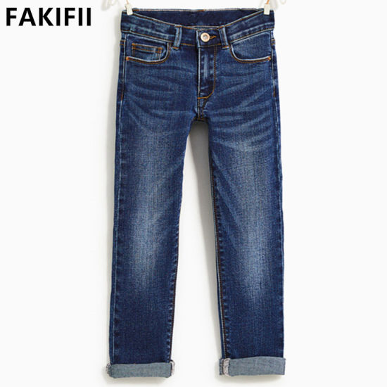 New Design High Quality OEM/ ODM Children Apparel Kids Color Straight Jeans