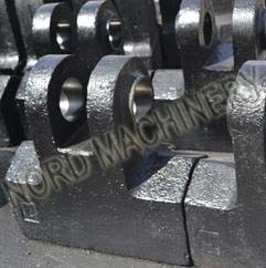 Heavy Duty Forging Crusher Hammers with High Strength