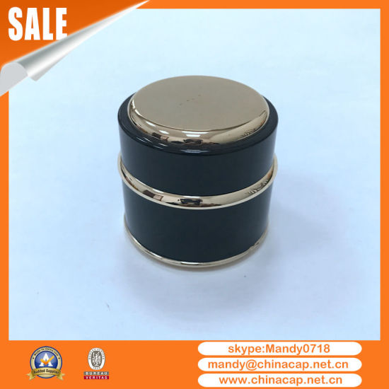 Custom Glass Jar with Black Aluminum Lid for Cosmetics pictures & photos