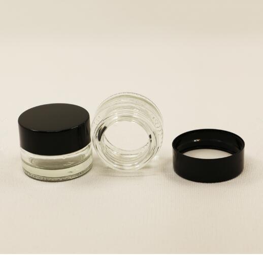 Small Airtight Glass Vase for Medicine Storage