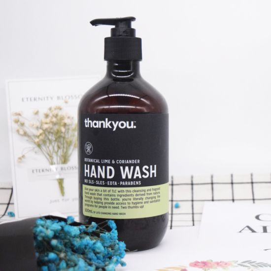 Natural Moisturizing and Antibacterial Lime and Coriander Hand Soap pictures & photos