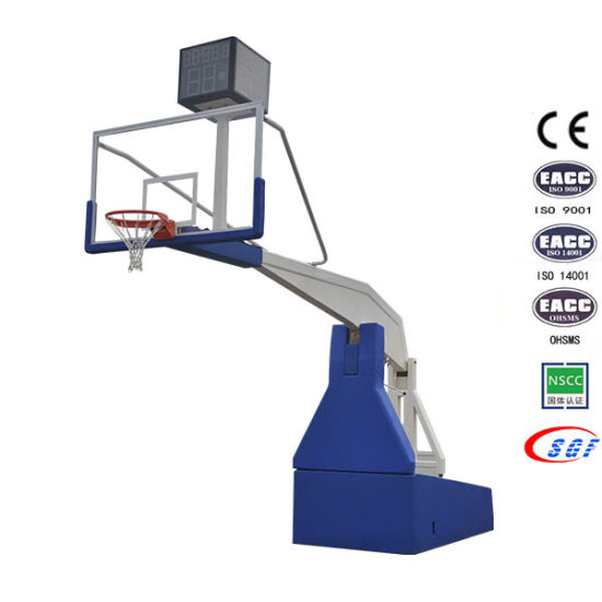 Professional Indoor Fold Adjustable Height Steel Basketball Hoop for Competition pictures & photos