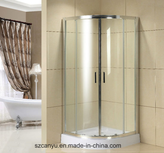 Tempered Glass Sliding Door Aluminium Profile Bathroom Shower Partition