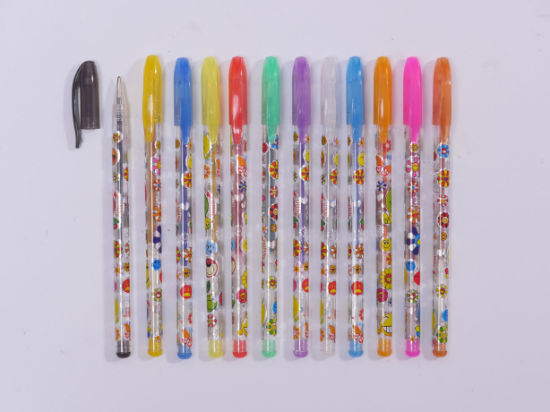 Platsic Glitter Gel Pen with Multi Color pictures & photos