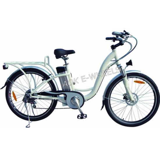 Vintage Lady Aluminium Alloy Lithium Battery Electric Bike (TDE-038XB)