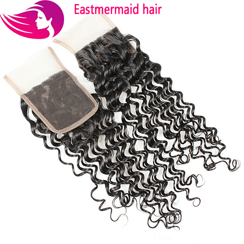 100%brazilian Hair Curly Wave Lace Closure