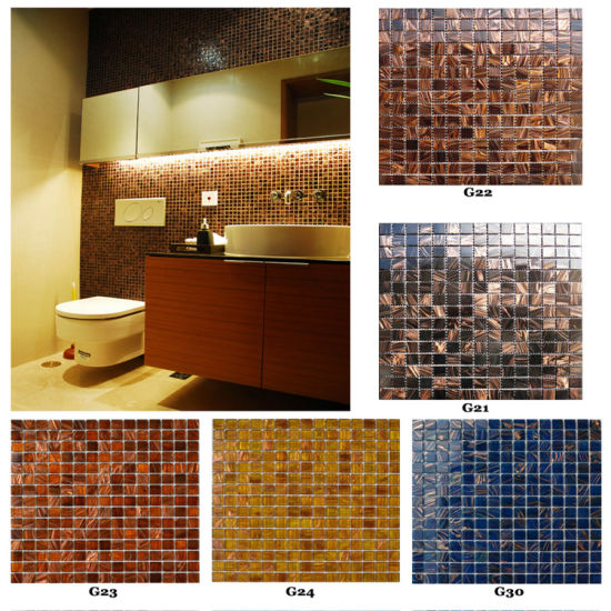 Bathroom Swimming Pool Ceramic Glass Mosaic Tile pictures & photos