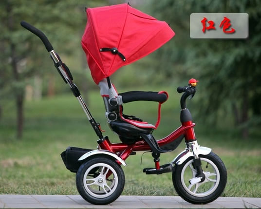 2016 New Style Red Baby Stroller Tricycle