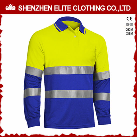 Wholesale Long Sleeve Hi Vis Safety Work Polo Shirts pictures & photos