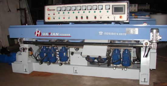 9 Spindles Auto Glass Straight Line Polishing Machine
