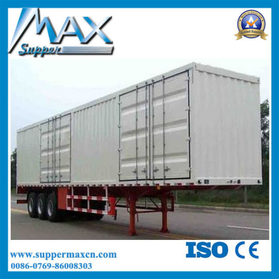 China 3 Axle Cargo Box Freezer Truck Used Refrigerated Trailers For Sale China Van Trailer Dump Trailer