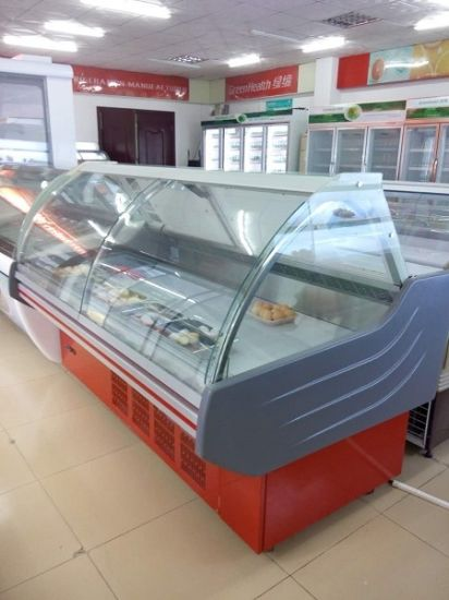 Display Dishes Showcase with Flip Glass Door