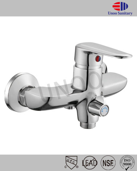 Unoo Chrome Plating Shower Mixer Saintaryware in Brushed Nickel (M44-4) pictures & photos