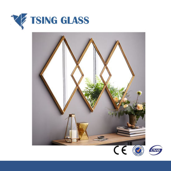 China Decorative Silver Mirror with Frame for Building and Furniture ...