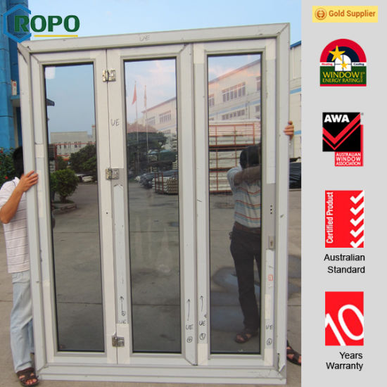 Rehau Brand PVC Profile Folding Door with Double Glass & China Rehau Brand PVC Profile Folding Door with Double Glass - China ...