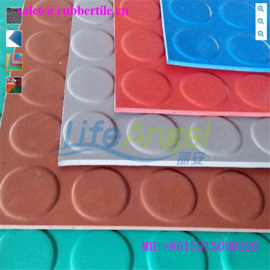 Anti Slip Round Coin Flooring, Rubber Airport/Hospital/Libarary Flooring pictures & photos