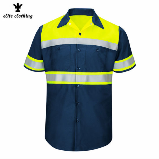 ANSI Men Safety Reflective Hi Vis Class 3 Work Shirts pictures & photos