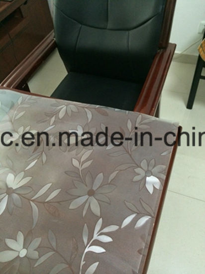 PVC Table Cloth Embossing Sheet 0.7-4.0mm Supplier pictures & photos