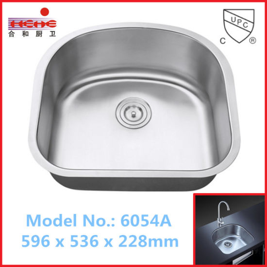 American Style Single Bowl Stainless Steel Kitchen Sink With Cupc Approved  (6054A)