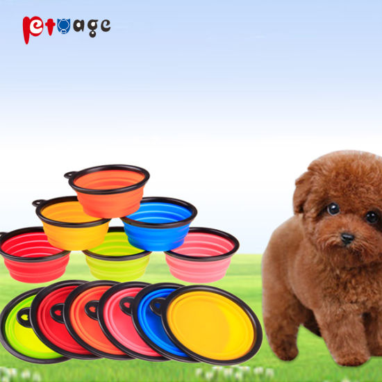 Collapsible Dog Cat Silicone Feeder Bowl Products Pet Supply