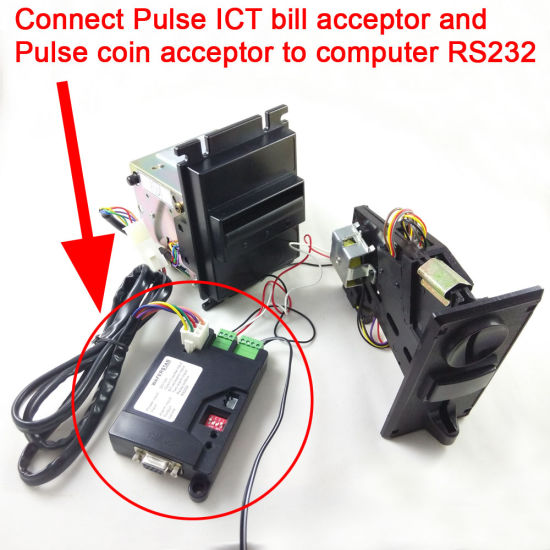 Ict Bill Acceptor, Pulse Type Coin Acceptor Adapte to PC RS232 Port