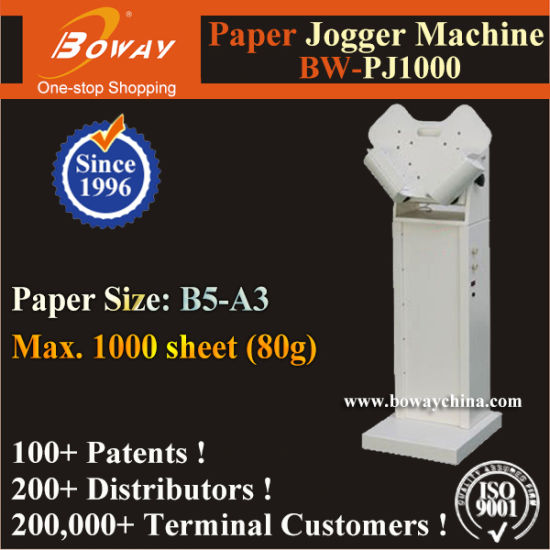 1000 Sheets B5 to A3 Size Electric Paper Sheets Jogger Machine (BW-PJ1000)