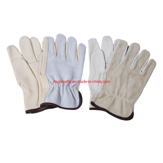 Top Quality Cowgrain Palm with Split Back Working Safety Glove, Leather Work Glove, Working Glove, Work Gloves, Gloves