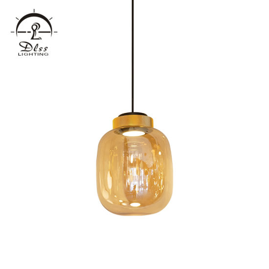 Guzhen Designer Lighting Amber/Smoky/White Glass Round LED Modern Lighting