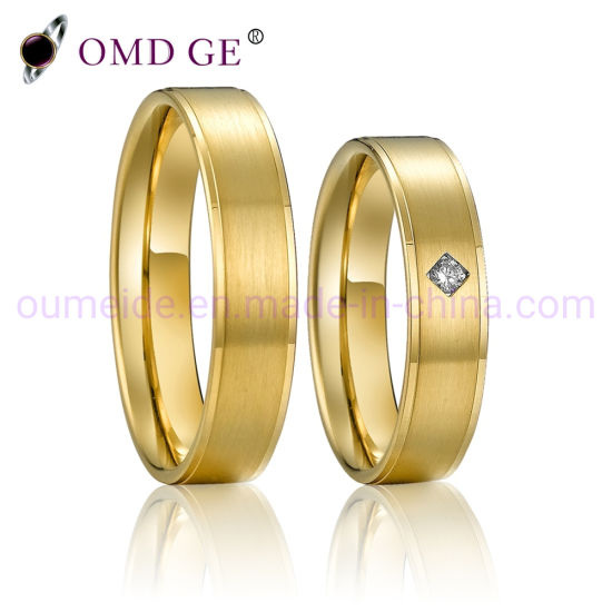Gold Wedding Diamond Titanium Rings Jewelry