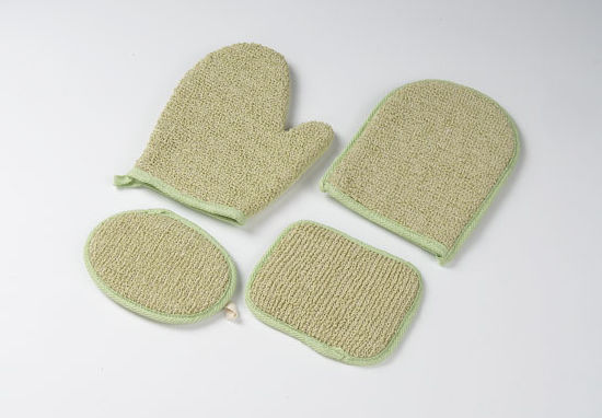 China Wholesale Good Hand Feeling Body Scrub Loofah Mesh Bath