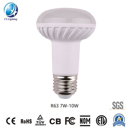 LED Lighting R63 LED Bulb SMD2835 7W/10W E27/B22 Ce RoHS