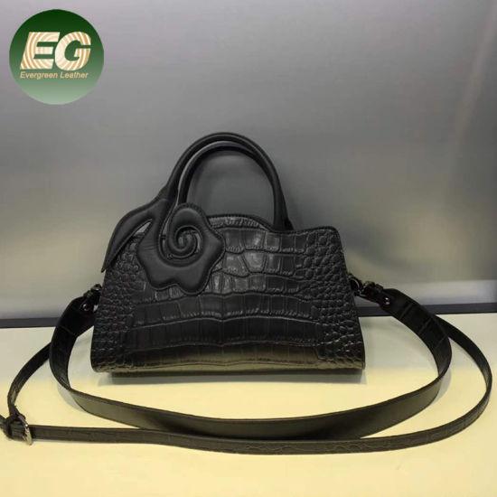 ec648546a4aa Guangzhou Factory Wholesale Crocodile Leather Bag Women Handbag Emg5485