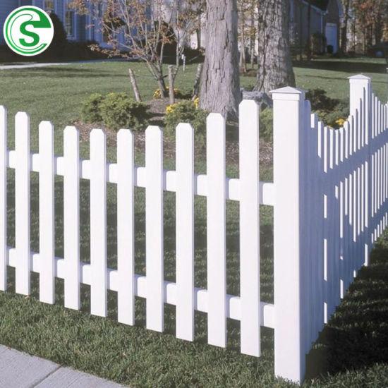 Modern Durable PVC Vinyl Picket Backyard Garden Fence/Gate