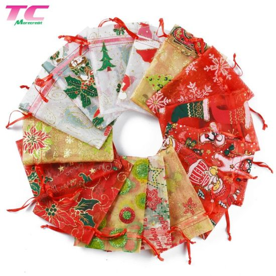 Hot-Sale Various Style Drawstring Organza Pouch Gift Bag for Candies and Jewelry