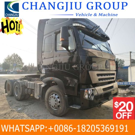 China Low Price Used HOWO A7 371HP 420HP 550HP Used Tractor
