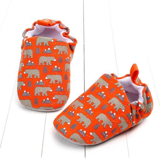 Boy Soft Sole Leather Infant Prewalker Crib Shoes Esg11371